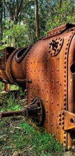 old industrial machine